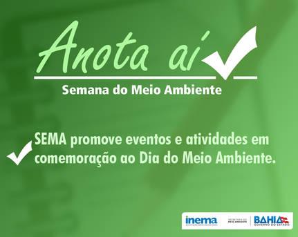 Sema promove eventos na semana do Meio Ambiente.